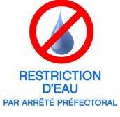 RESTRICITION D'EAU
